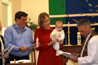 Image of a Infant Baptism and Dedication at St Michael and All Angels